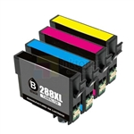 Epson 288XL (T288XL120-T288XL420) New Compatible 4 Color Ink Cartridges Combo High Yield