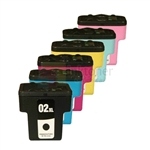 HP 02XL New Compatible 6 Color Ink Cartridges Combo High Yield