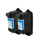 HP 15 (C6615DC) New Compatible Black Ink Cartridges 2 Pack Combo
