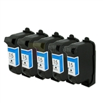HP 15 (C6615DC) New Compatible Black Ink Cartridges 5 Pack Combo