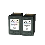 HP 27 (C8727AN) New Compatible Black Ink Cartridges 2 Pack Combo