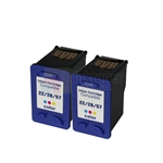 HP 28 (C8728AN) New Compatible Tri-Color Ink Cartridges 2 Pack Combo