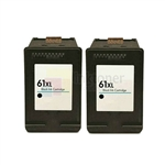 HP 61XL (CH563WN) New Compatible Black Ink Cartridges 2 Pack Combo High Yield