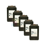 HP 61XL (CH563WN) New Compatible Black Ink Cartridges 5 Pack Combo High Yield