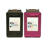 HP 61XL (CH563WN-CH564WN) New Compatible Black & Tri-Color Ink Cartridges Combo High Yield