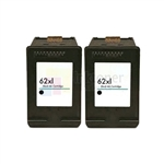 HP 62XL (C2P05AN) New Compatible Black Ink Cartridges 2 Pack Combo High Yield