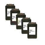 HP 62XL (C2P05AN) New Compatible Black Ink Cartridges 5 Pack Combo High Yield