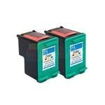 HP 75XL (CB337WN) New Compatible Tri-Color Ink Cartridges 2 Pack Combo High Yield