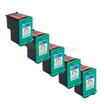 HP 75XL (CB337WN) New Compatible Tri-Color Ink Cartridges 5 Pack Combo High Yield