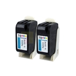 HP 78 (C6587DN) New Compatible Color Ink Cartridges 2 Pack Combo