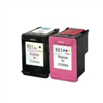 HP 901XL (CC654AN-CC656AN) New Compatible Black & Tri-Color Ink Cartridges Combo High Yield