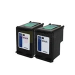 HP 92 (C9362WN) New Compatible Black Ink Cartridges 2 Pack Combo