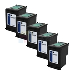 HP 92 (C9362WN) New Compatible Black Ink Cartridges 5 Pack Combo