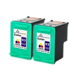 HP 93 (C9361WN) New Compatible Tri-Color Ink Cartridges 2 Pack Combo