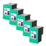 HP 93 (C9361WN) New Compatible Tri-Color Ink Cartridges 5 Pack Combo
