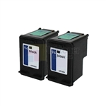 HP 94 (C8765WN) New Compatible Black Ink Cartridges 2 Pack Combo