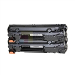 HP CE285A (HP 85A) New Compatible Black Toner Cartridges 2 Pack Combo