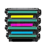 HP CE400X-CE403A (HP 507X / 507A) New Compatible 4 Color Toner Cartridges Combo High Yield