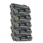 HP CF280X (HP 80X) New Compatible Black Toner Cartridges 5 Pack Combo High Yield