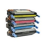 HP Q5950A-Q5953A (HP 643A) New Compatible 4 Color Toner Cartridges Combo