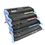 HP Q6000A-Q6003A (HP 124A) New Compatible 4 Color Toner Cartridges Combo