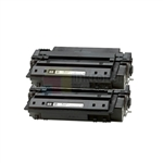 HP Q7551A (HP 51A) New Compatible Black Toner Cartridges 2 Pack Combo
