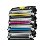 Konica Minolta 1600W A0V301F-A0V306F New Compatible 4 Color Toner Cartridges Combo High Yield