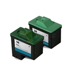 Lexmark 16 (10N0016)/ Lexmark 26 (10N0026) Remanufactured Black & Color Ink Cartridges Combo High Yield