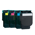 Lexmark C540H2KG-C540H2YG New Compatible 4 Color Toner Cartridges Combo High Yield
