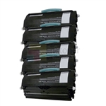 Lexmark X463A11G (X463A21G) New Compatible Black Toner Cartridges 5 Pack Combo