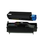 Okidata 44992405 New Compatible Black Toner Cartridge/Okidata 44574309 New Compatible Drum Unit 2 Pack Combo