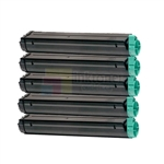 Okidata 42103001 New Compatible Black Toner Cartridges 5 Pack Combo