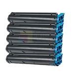 Okidata 43502301 New Compatible Black Toner Cartridges 5 Pack Combo