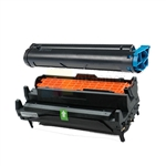 Okidata 43502301 New Compatible Toner Cartridge/Okidata 43501901 Compatible Drum Unit 2 Pack Combo