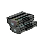 Ricoh 406989 New Compatible Black Toner Cartridges 2 Pack Combo
