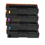 Ricoh 406344-406347 New Compatible 4 Color Toner Cartridges Combo High Yield