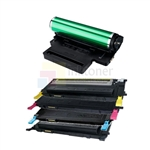 Samsung CLT-K409S/C409S/M409S/Y409S New Compatible 4 Color Toner Cartridges/Samsung CLT-R409 Compatible Drum Unit 5 Pack Combo