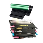 Samsung CLT-K407S/C407S/M407S/Y407S New Compatible 4 Color Toner Cartridges/ Samsung CLT-R407 Compatible Drum Unit 5 Pack Combo
