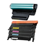 Samsung CLT-K406S/C406S/M406S/Y406S New Compatible 4 Color Toner Cartridges/ Samsung CLT-R406 Compatible Drum Unit 5 Pack Combo