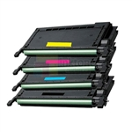 Samsung CLP-K660B/C660B/M660B/Y660B New Compatible 4 Color Toner Cartridges Combo High Yield