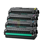 Samsung CLT-K506L/C506L/M506L/Y506L New Compatible 4 Color Toner Cartridges Combo High Yield