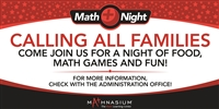 Math Night Horizontal Banner