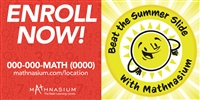 Summer Slide Enroll Now Horizontal Banner