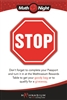 Stop Poster on Board