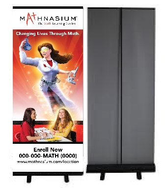 Retractable Banner Stand  (vertical banner sold separately for this stand)