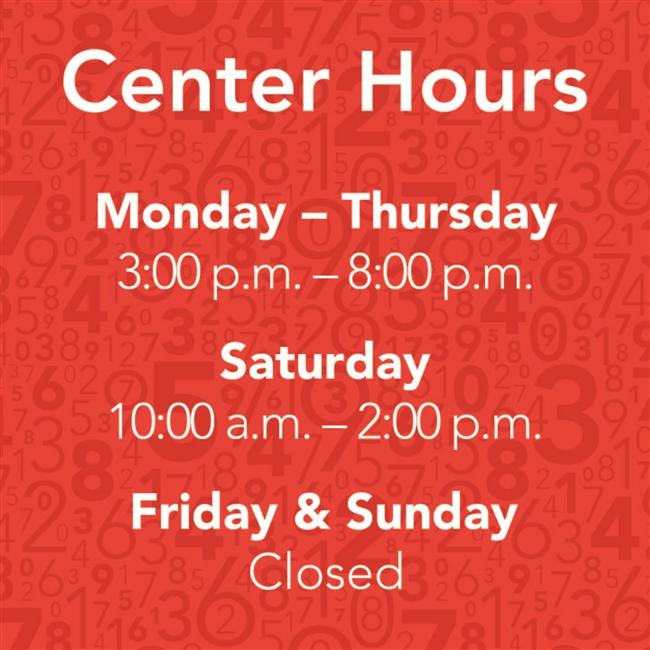 Static Cling - Center Hours 1