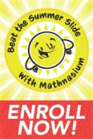 Summer Slide Enroll Now Static Cling