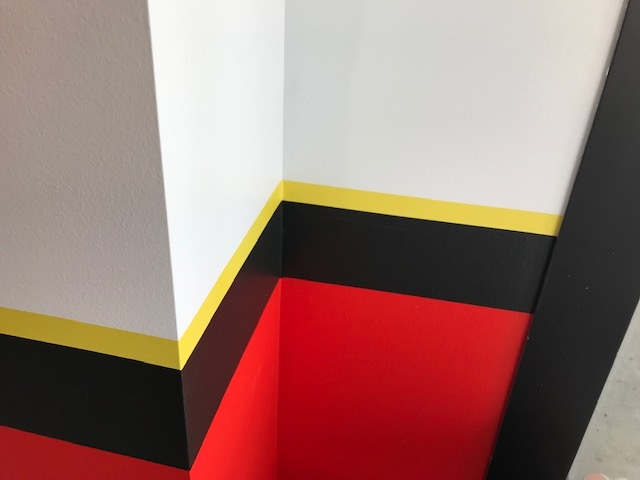 Yellow Wall Striping