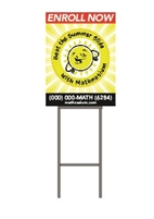 Summer Slide Enroll Now Yard Sign
