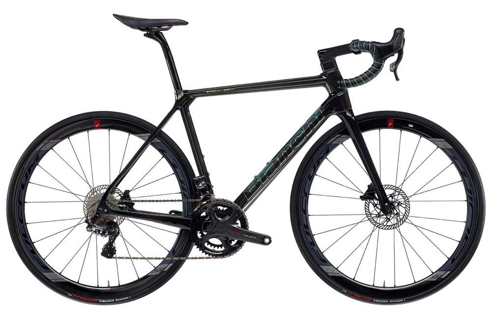 Bianchi Specialissima Disc Super Record EPS | 2021 | SB - Black Carbon UD/Mermaid Scale |  11999 | Contact us for competitive pricing and availability.
